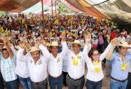 Con los candidatos de la coalición afirmó el candidato con militancia en el PRD se promoverá el desarrollo de oportunidades y el bienestar social, gracias a lo que los ciudadanos tendrán opciones de trabajo: Elías Ibarra