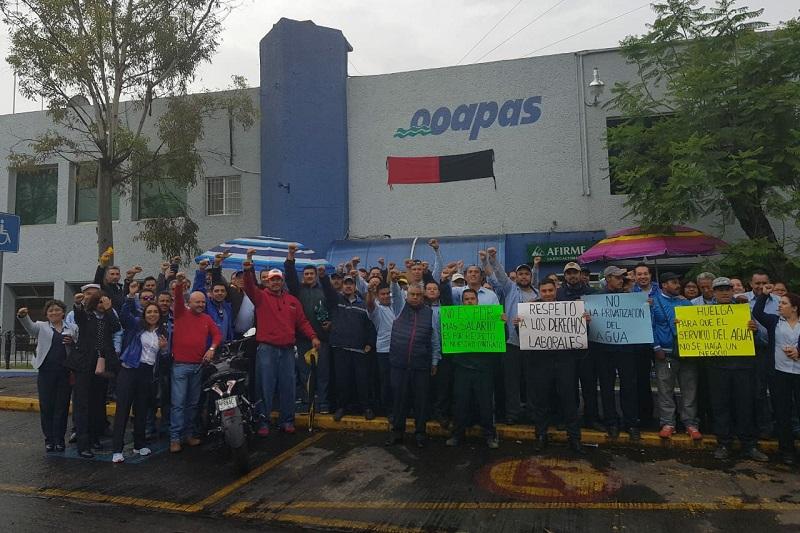El Sindicato advierte que hay riesgo de colapso del sistema de agua potable ante la actitud que han tomado el director del OOAPAS y las autoridades municipales