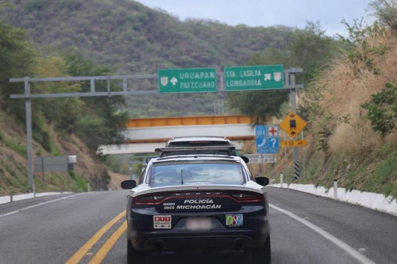 El despliegue operativo que mantiene la Policía Michoacán en las 10 regiones del territorio michoacano es permanente