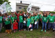 Constantino Ortiz, recibió muestras de respaldo desde Ciudad Jardín, donde la manifestaron que él representa el cambio que ocupan y exigen los ciudadanos