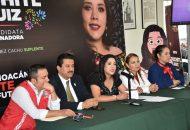 """Xóchitl Ruiz dijo que """"instrumentar leyes y acciones que fortalezcan el empoderamiento de la mujer en México, es vital para seguir avanzando en la equidad de género"""""""