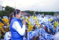 Tenemos las mejores propuestas, encaminadas a mejorar la seguridad, legislar a favor de los migrantes y el desarrollo económico: Alma Mireya González
