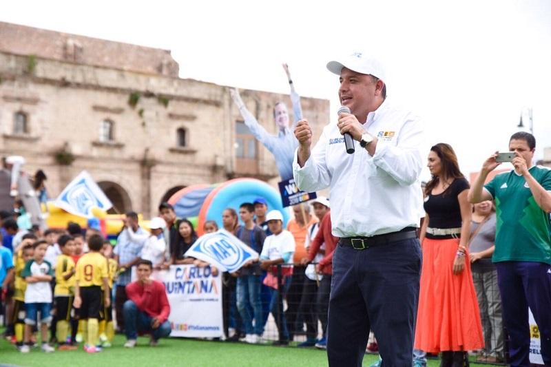 Se invertirá en prevención del delito, a través del fomento al deporte y la cultura desde temprana edad: Carlos Quintana
