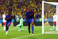 Yerry Mina, a los 39 minutos, Radamel Falcao García (69m) y Juan Guillermo Cuadrado (74) marcaron los goles de un seleccionado cafetero inspirado
