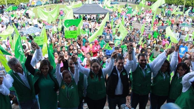 Candidatos al Senado consideran que el Partido Verde logró posicionarse con confianza, credibilidad y gran capacidad de convocatoria