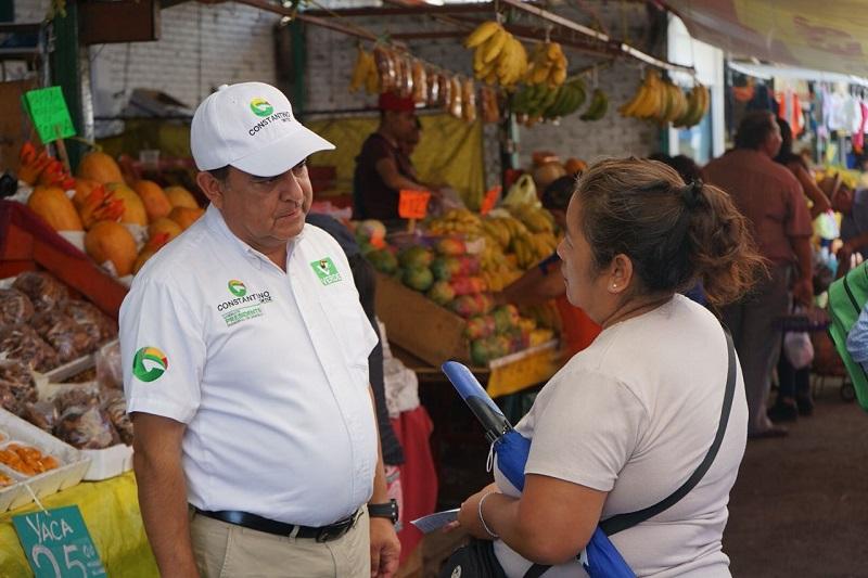 """Constantino Ortiz se declaró """"muy contento y con mucho ánimo"""" por la respuesta favorable de los morelianos hacia su proyecto de gobierno"""