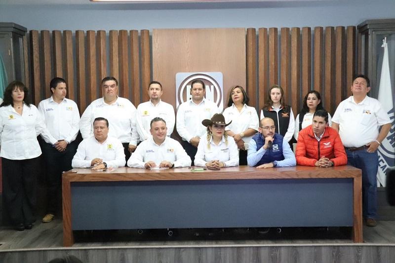 En este contexto los líderes del PAN, PRD y MC aseguraron que a través de la Coalición por Morelia al Frente se le dará un rostro diferente a la capital michoacana
