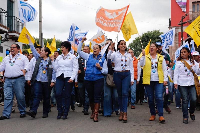 En 90 días de campaña se saludaron cerca de 100 mil michoacanos y más de noventa municipios se recorrieron: Alma Mireya González