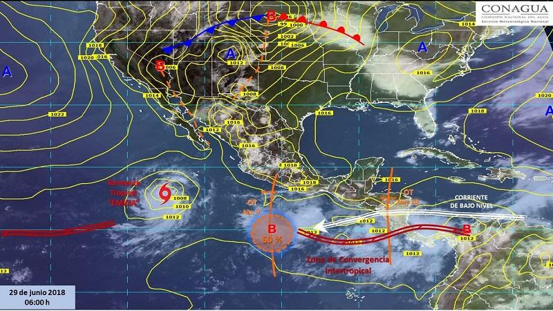La Comisión Nacional del Agua a través del Servicio Meteorológico Nacional, continuará informando del desarrollo de estos fenómenos a través de la cuenta de Twitter @conagua_clima, así como los sitios de internet http://smn.conagua.gob.mx y www.conagua.gob.mx