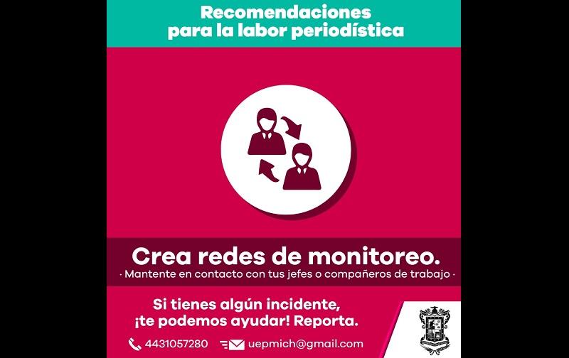 En las acciones implementadas colaboran la CEEAV y la CEDH, en el ámbito de sus respectivas competencias, para brindar atención a periodistas, comunicadoras y comunicadores que así lo requieran