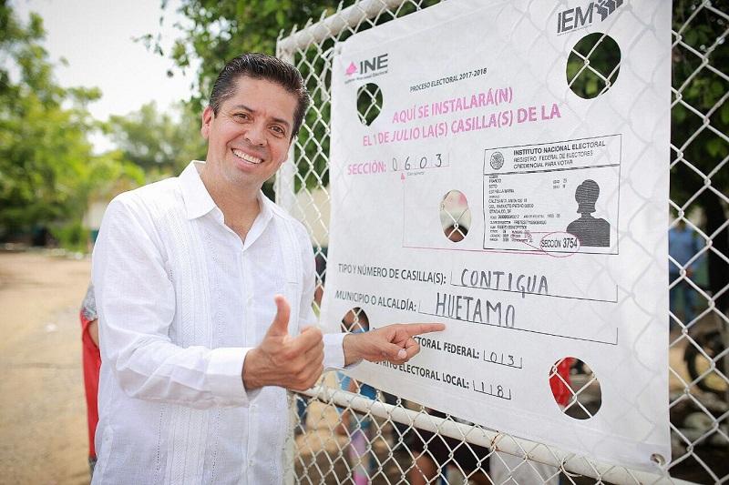 Antonio García Conejo señaló que gracias al apoyo de la población y su confianza, tendrá el triunfo para seguir impulsando el desarrollo de Michoacán desde el Congreso de la Unión