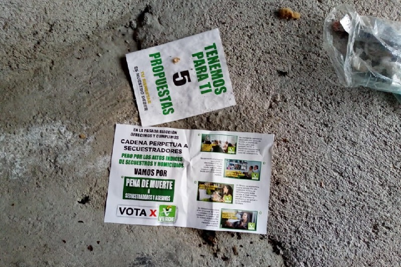 Durante las movilizaciones masivas, así como en los cierres de campaña de los candidatos, la dependencia recolectó 19 toneladas lo que fue considerado como una cantidad excesiva