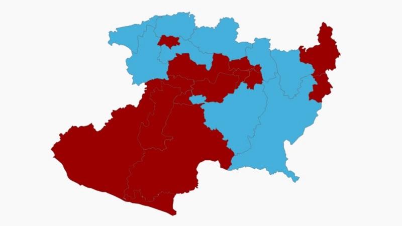 Por su parte, los partidos del Frente habrían obtenido el triunfo en 9 de los distritos electorales locales, aunque no descartaría que se presenten una o dos variaciones en los tribunales