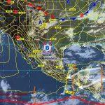 Durante el día se esperan temperaturas de 35 a 40 grados Celsius en áreas de Baja California Sur, Jalisco, Colima, Michoacán, Guerrero, Oaxaca, Chiapas, Chihuahua, Durango, San Luis Potosí, Nuevo León, Tamaulipas, Veracruz, Tabasco, Campeche, Yucatán y Quintana Roo