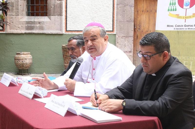 """""""Como arzobispo continuaré en el empeño por construir caminos de reconciliación que lleven a las comunidades a vivir en paz. Hoy más que nunca es urgente promover la paz social"""": Carlos Garfias"""