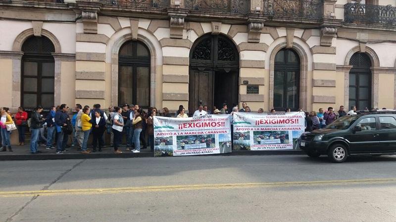 En las movilizaciones participan representantes de tres de los sindicatos del sector salud