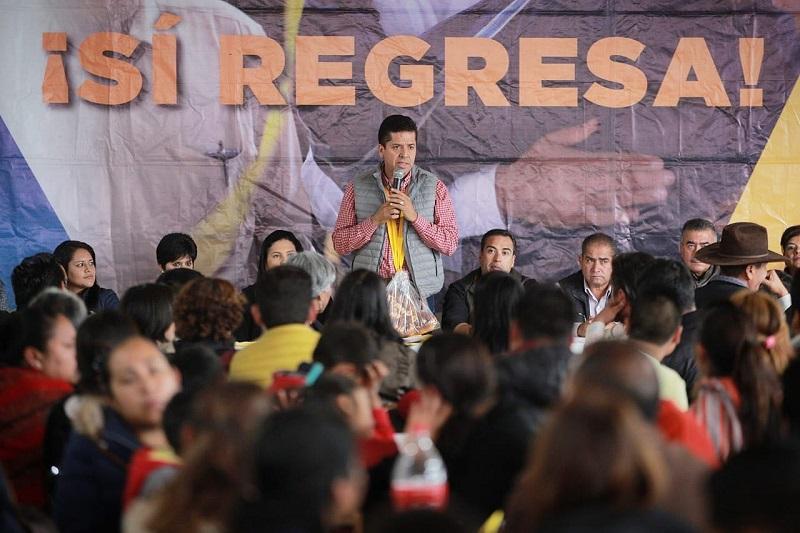El senador electo en su recorrido por Los Reyes y Paracho refrendó que su responsabilidad con los michoacanos se ve reflejada en sus cuatro ejes de trabajo