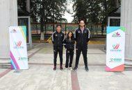 La directora general de la Cecufid, Jessica Moreno, viajó a la capital del país para despedir y entregar a un estímulo económico a los seleccionados nacionales