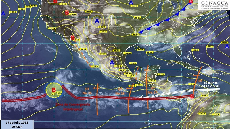 Las zonas de tormenta podrán estar acompañadas de relámpagos, caída de granizo, fuertes rachas de viento y posibles torbellinos / trombas marinas