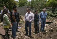 El alcalde electo escuchó las inquietudes y las peticiones de los colonos, y recalcó que trabajará de la mano de asociaciones civiles y grupos empresariales para apoyar a las familias afectadas