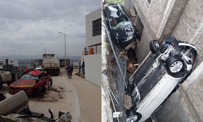 Joel Flores Bucio, presidente de la Mesa Directiva de la colonia, detalló que al menos 26 viviendas sufrieron severos daños, 2 autos fueron declarados como pérdida total y 7 recibieron golpes de piedras mientras que muchas casa más sólo tuvieron daños menores como grietas o algunas fisuras