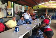 El acercamiento se dio con el objetivo de que cada una de las autoridades en las tenencias fueran planteando ante el Presidente Municipal Electo las necesidades que apremian en sus comunidades