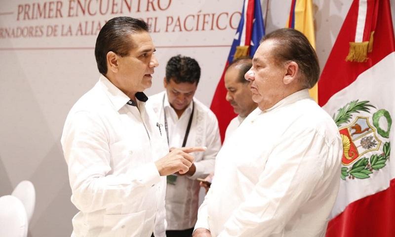 Aureoles Conejo dialoga con representantes de Perú para fortalecer intercambio de negocios con regiones de países hermanos