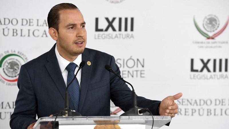 Marko Cortés recordó que la bancada panista presentó diversas modificaciones legales para disminuir los recursos a los partidos