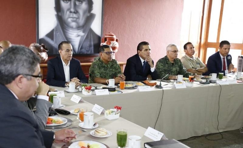 En reunión del Grupo de Coordinación Michoacán, analizan los resultados de la primera semana de la Operación Limpieza