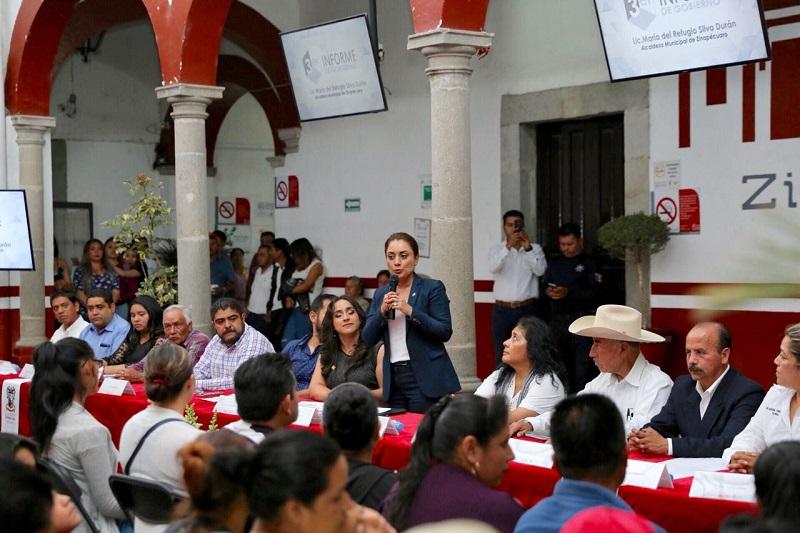Gobierno Estatal, pieza fundamental en el bienestar de las familias zinapecuarenses, compartió la mandataria municipal