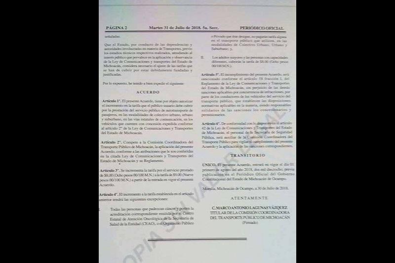 El acuerdo administrativo fue firmado por el titular de la Cocotra, Marco Antonio Lagunas Vázquez