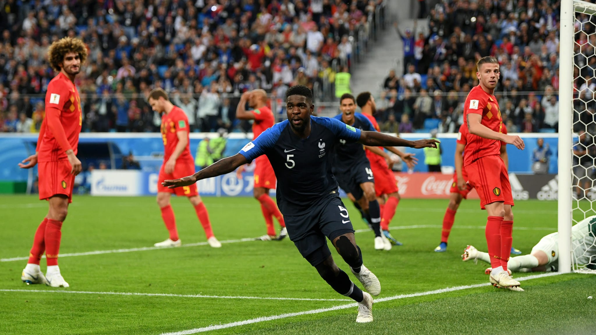 Samuel Umtiti marcó la diferencia en ataque y fue una roca en defensa, por lo que su actuación fue clave para que Francia esté en la final