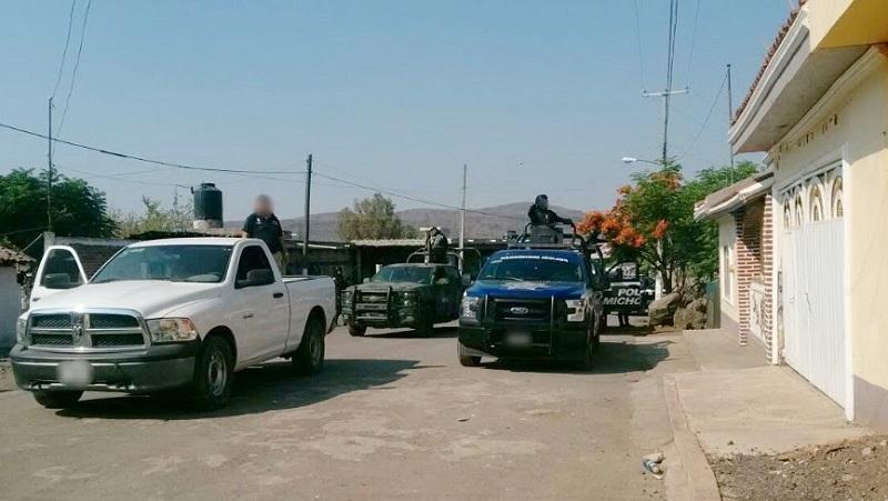 En acción operativa, la dependencia estatal aseguró armas, vehículos y narcótico en ese municipio