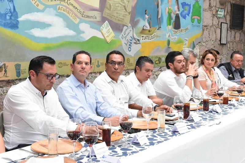 López Solís asistió hoy a reunión convocada por la Cámara Nacional de Comercio, Servicios y Turismo en Morelia