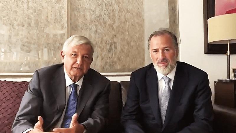 A su llegada a la casa de transición, López Obrador fue cuestionado por los medios sobre el encuentro con Meade y el posible encuentro con Ricardo Anaya, sin embargo, el tabasqueño evitó responder