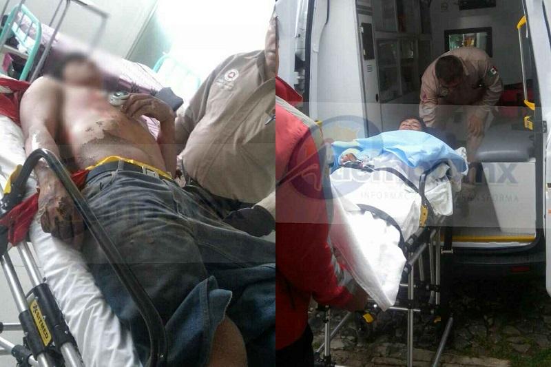 El hecho ocurrió cuando alertaron al personal de Protección Civil de Angangueo que en el lugar conocido como La Hacienda se encontraba una persona lesionada por descarga eléctrica