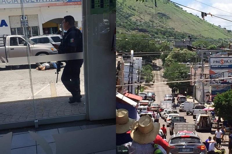 El hecho ocurrió cuando los agentes realizaban un recorrido de Prevención y Vigilancia sobre la Avenida Lázaro Cárdenas en el Centro de Nueva Italia