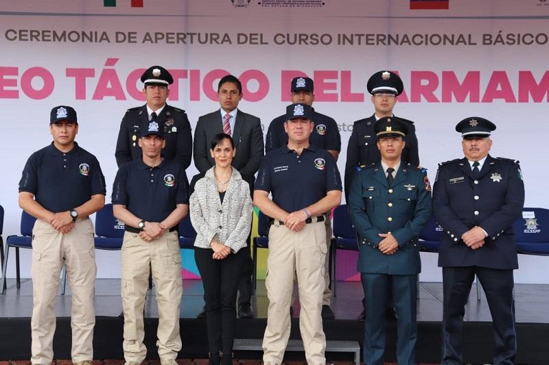 Bernal Bustamante pronunció que su compromiso es promover y garantizar la seguridad y el bienestar de las y los michoacanos a través de la educación policial de calidad y a la vanguardia de las necesidades que se requieren atender