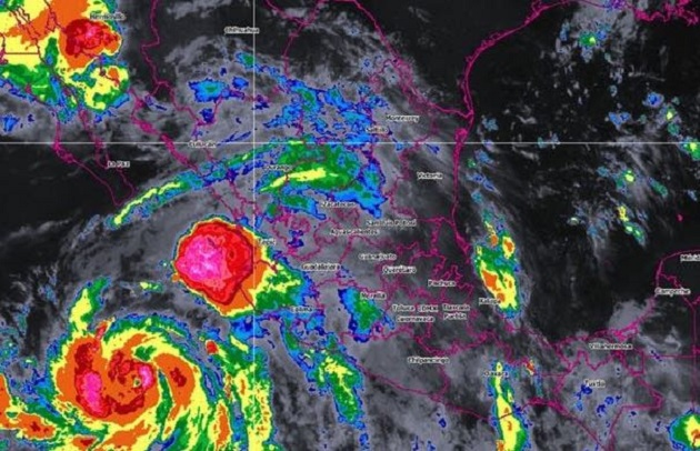 Ambos fenómenos ocasionarán lluvias intensas, además de en Michoacán, en Jalisco, Colima, Guerrero, Puebla, Veracruz y Oaxaca