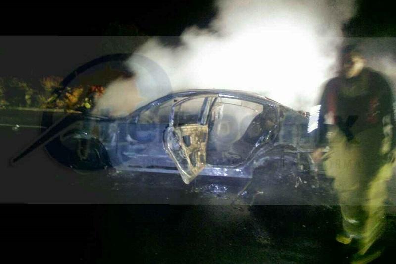 El segundo vehículo involucrado se dio a la fuga desconociendo autoridades características del mismo, por lo que Policía Federal se hizo cargo del peritaje y retirar la Unidad siniestrados