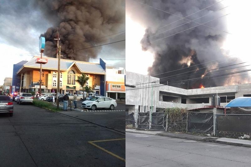 Elementos de la Policía Michoacán cerraron vialidades para evitar un incidente, así mismo, no hay reporte de personas lesionadas o fallecidas en el interior