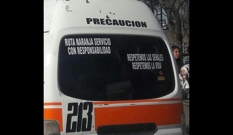 Transportistas de la combi Naranja denuncian invasión de rutas