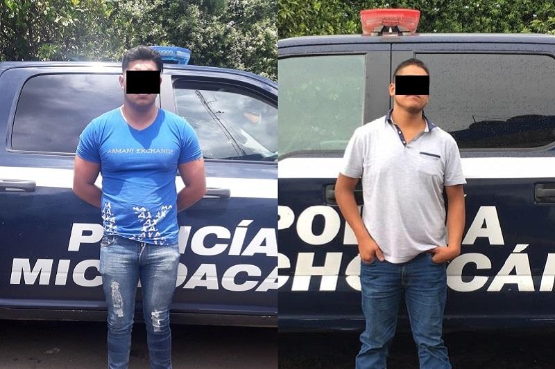 Los dos detenidos y lo asegurado fue puesto a disposición de la autoridad competente para continuar con las carpetas de investigación