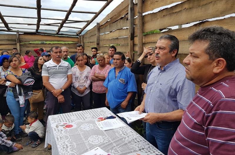 En el contexto del encuentro, los habitantes de la colonia Rubén Jaramillo destacaron que uno de los temas que les son de mayor relevancia es la regularización de la situación sobre el predio donde están asentados