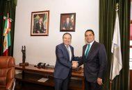 Aureoles Conejo recibió en Palacio de Gobierno a Alfonso Durazo para intercambiar puntos de vista sobre éste y otros temas del país y de Michoacán