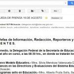 Resulta una contradicción que la SEP cometa este tipo de errores para convocar a una rueda de prensa para presentar los carteles alusivos al nuevo modelo educativo y en el cual estarán presentes las máximas autoridades del sector educativo en Michoacán