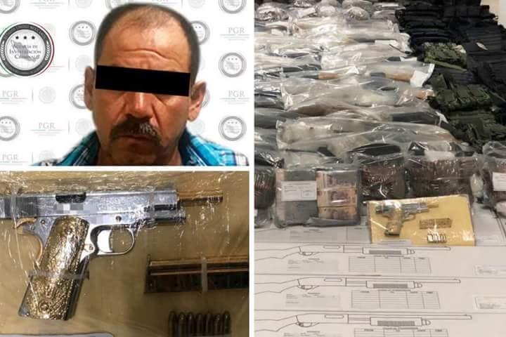 El conductor fue identificado como Eleazar L., de 47 años de edad, originario de Nuevo León, el cual indicó que el arsenal tenía como destino el municipio de Huetamo, en el estado de Michoacán