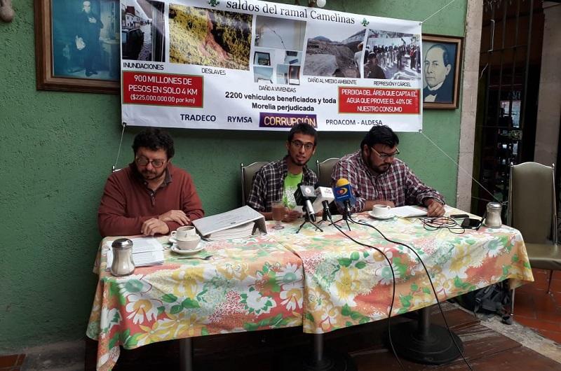 El activista argumentó que las finanzas del municipio de Morelia no soportarán el mantenimiento de una obra de ese tamaño por lo que sugirió que debe ser el Gobierno del Estado quien la reciba