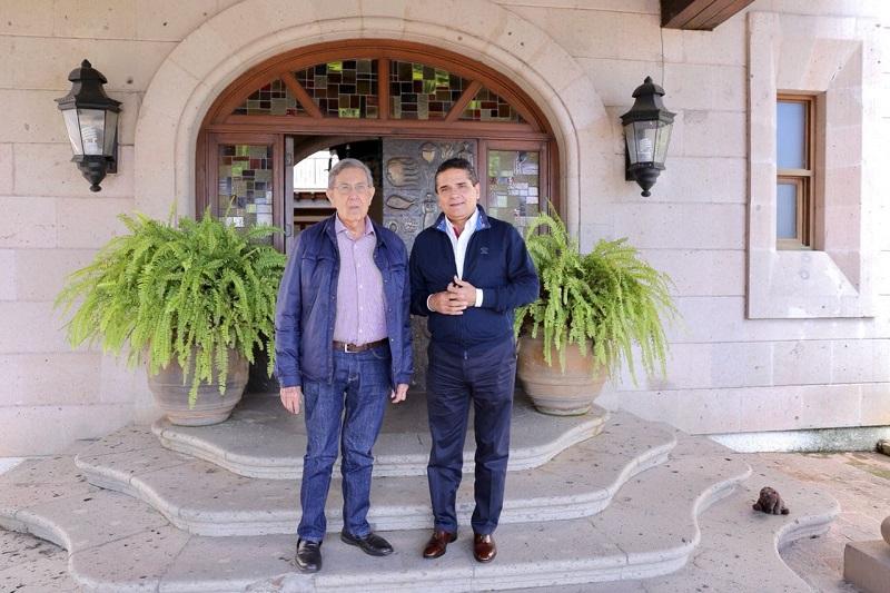 Ambos coincidieron en que la principal meta es continuar sumando, desde todos los frentes, por el bienestar de Michoacán y México
