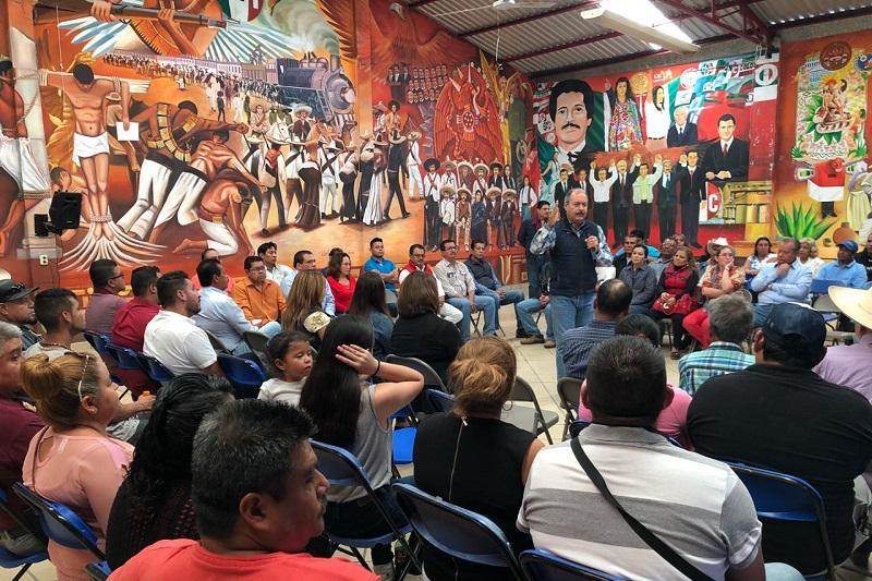 También se tuvo un encuentro con el presidente municipal electo de Álvaro Obregón, Adán Sánchez y la planilla que lo acompañará en la próxima administración